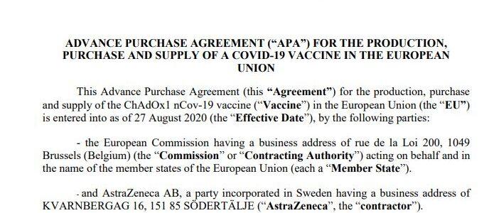 Vacunas: publicación del contrato entre la Comisión Europea y AstraZeneca