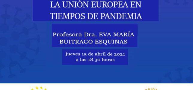 """Charla """"Europa en tiempos de pandemia"""" con el Aula de la Experiencia de la US"""